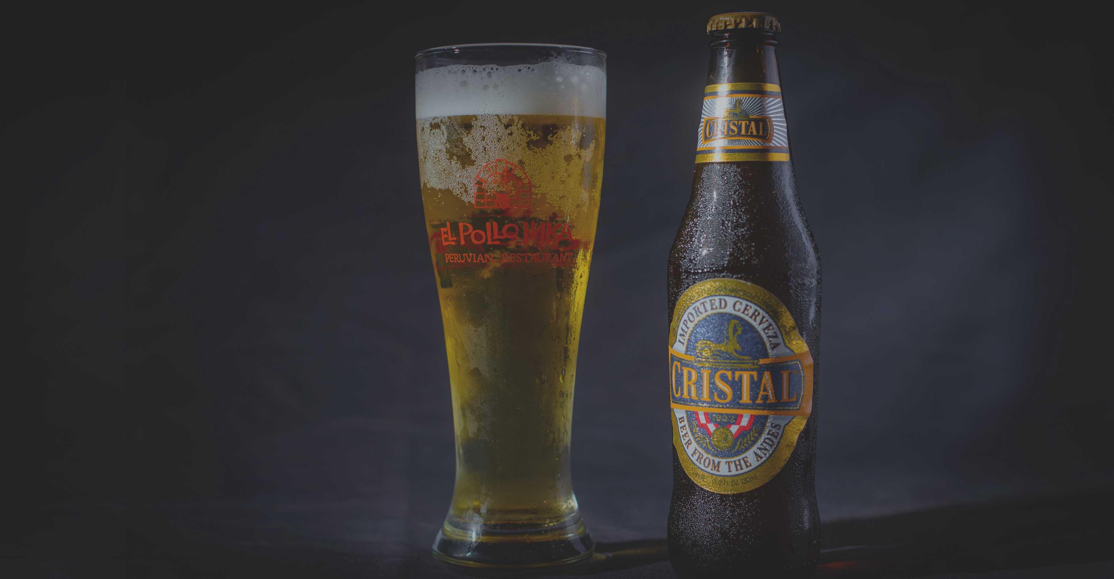 El Pollo Inka Glass and Cristal Beer
