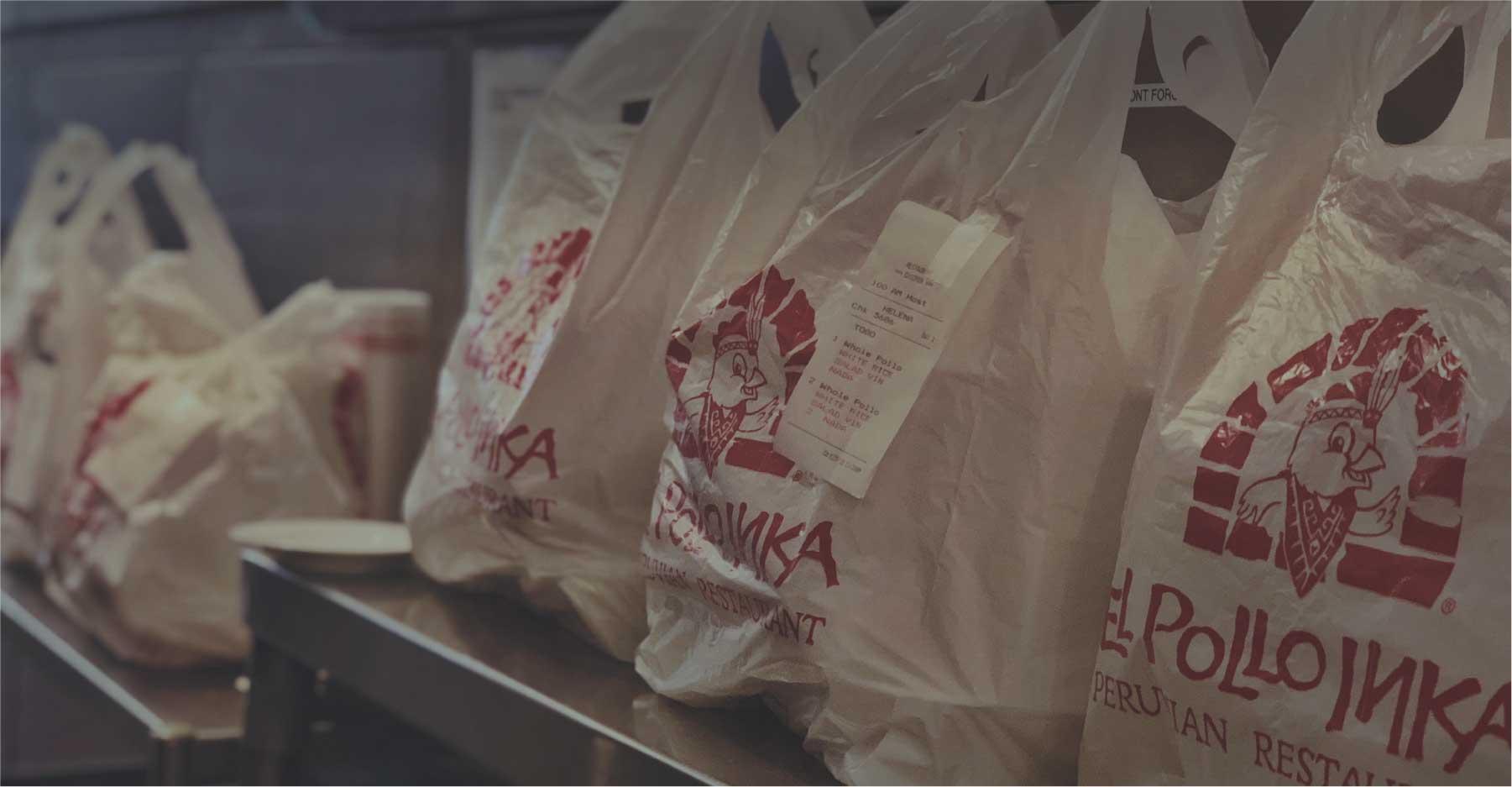 El Pollo Inka Delivery Bags